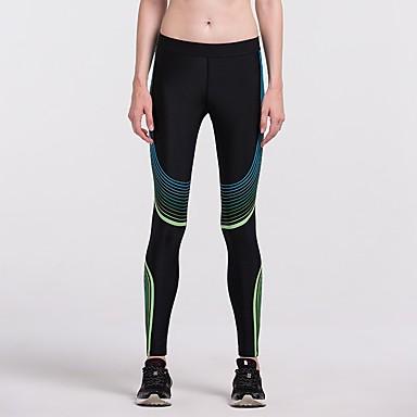 Γυναικεία Leggings de Alergat Βαμβάκι Αθλητισμός Καλσόν Ποδηλασία Κολάν Γιόγκα Fitness Γυμναστήριο προπόνηση Προπόνηση Ασκηση Γρήγορο Στέγνωμα Μαύρο Λευκό Κίτρινο Σκούρο μπλε Ασημί+Μπλε