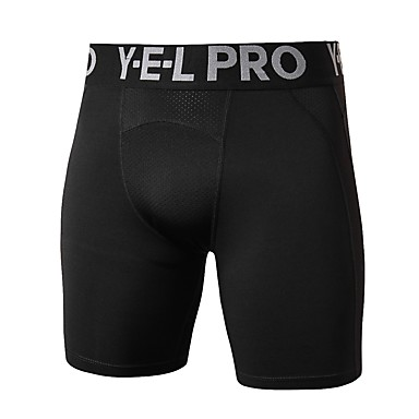 Homens Calças de Corrida Calças de atletismo Calças esportivas Esportes Shorts Leggings Curtos Corrida Exercício e Atividade Física Exercicio Exterior Respirabilidade Sólido Preto Cinzento Escuro