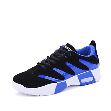 Ανδρικά Φως πέλματα PU Ανοιξη καλοκαίρι Αθλητικό Αθλητικά Παπούτσια Μαύρο / Άσπρο / Μαύρο / Κόκκινο / Μαύρο / Μπλε