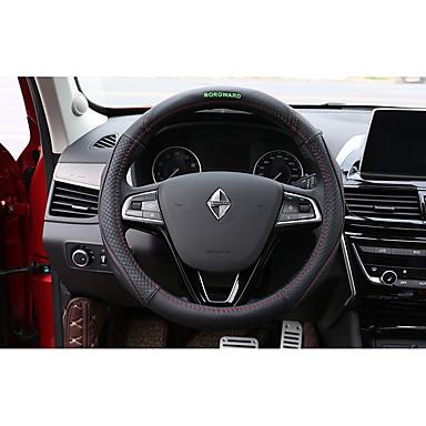billige Interiørtilbehør til bilen-Rattovertrekk til bilen ekte lær 38 cm Brun / Rød / Svart / Rød Til Borgward BX7 Alle år