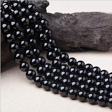 DIY Κοσμήματα 38 τεμ Ștrasuri Κρύσταλλο Μαύρο Κυκλικό Χάντρα 1 cm DIY Κολιέ Βραχιόλια
