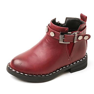 95e3559250011 Fille Chaussures Similicuir Automne Hiver boîtes de Combat Confort Bottes  Bottine   Demi Botte pour Décontracté Noir Marron Vin de 6478377 2019 à   14.99