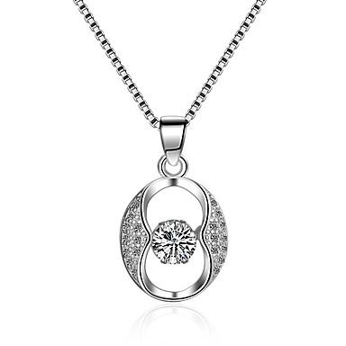 povoljno Modne ogrlice-Žene Kubični Zirconia Ogrlice s privjeskom beskraj Klasik Vintage Moda Zircon Srebrna Pink Ogrlice Jewelry 1 Za Vjenčanje Angažman