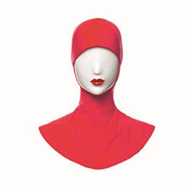 árabe Hijab / Khimar Mulheres Festival / Celebração Modal Café / Rosa / Vermelho Trajes de Carnaval Sólido