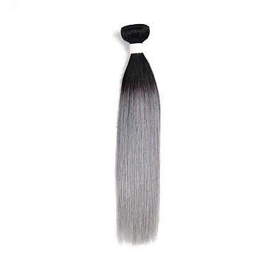 povoljno Ekstenzije od ljudske kose-1 paket Brazilska kosa Ravan kroj Remy kosa Ombre Isprepliće ljudske kose Proširenja ljudske kose / 10A