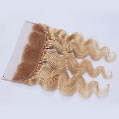 povoljno Ekstenzije od ljudske kose-3 paketi s zatvaranjem Malezijska kosa Tijelo Wave Ljudska kosa Kosa potke zatvaranje Isprepliće ljudske kose Proširenja ljudske kose / 8A