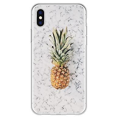 tok Για Apple iPhone X / iPhone 8 Plus / iPhone 8 Με σχέδια Πίσω Κάλυμμα Φρούτα / Μάρμαρο Μαλακή TPU