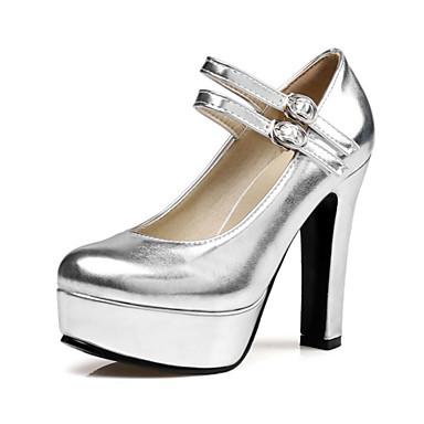 Mujer Zapatos PU Primavera / Verano Confort / Innovador Tacones Tacón alto Dedo redondo Dorado / Negro / Plata / Boda / Fiesta y Noche Pour Pas Cher Pas Cher HCdwdZxks