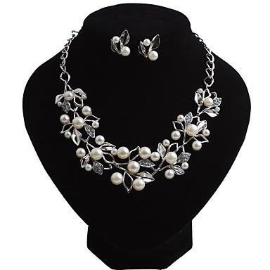 Γυναικεία Σετ Κοσμημάτων Επιπλέει Λουλούδι κυρίες Μποέμ Ευρωπαϊκό Μπόχο Απομίμηση Μαργαριταριού Σκουλαρίκια Κοσμήματα Χρυσό / Ασημί Για Πάρτι Βραδινό Πάρτυ