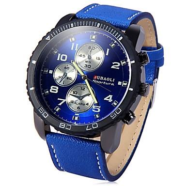 levne Pánské-JUBAOLI Pánské Náramkové hodinky Křemenný Velkoformátové Nerez Černá / Modrá / Červená Cool Velký ciferník Analogové Černá Tmavomodrá Červená