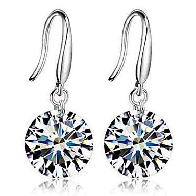 levne Dámské šperky-Dámské Diamant Kubický zirkon Visací náušnice Lustr Klasické Módní Zirkon Náušnice Šperky Stříbrná Pro Denní Obřad