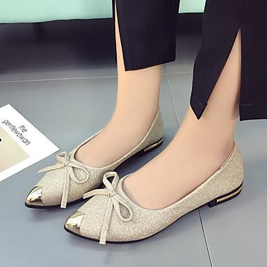 Mujer Zapatos Cuero de Napa Primavera / Verano Confort Zapatillas de deporte Tacón Plano Punta cerrada Negro / Beige orFSDfg