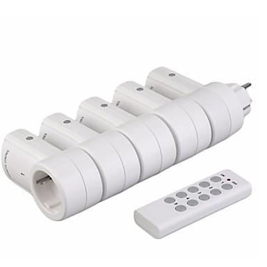 rf433 5 soquetes de interruptor de alimentação sem fio1 controle remoto porta doméstica plug eu plug-in de controle remoto sem fio de alta