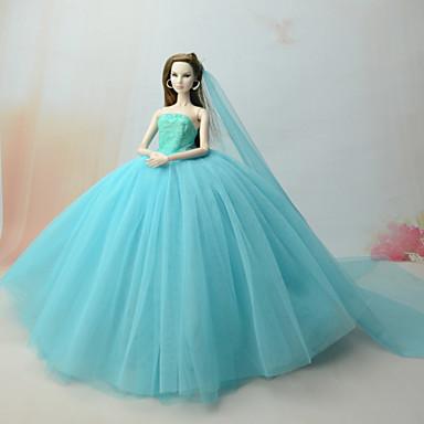 official photos f97ca e240f [$9.99] Abito da bambola Vestiti Per Barbie Verde mare Tulle Pizzo Abito  Per Ragazza Bambola giocattolo