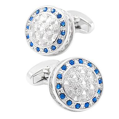 voordelige Herensieraden-Manchetknopen Informeel Standaard Kristal Broche Sieraden Blauw Voor Dagelijks Formeel