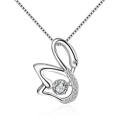 povoljno Modne ogrlice-Žene Kubični Zirconia Moissanite Ogrlice s privjeskom Ptica Klasik Vintage Moda Zircon Srebrna Pink Ogrlice Jewelry 1 Za Vjenčanje Angažman