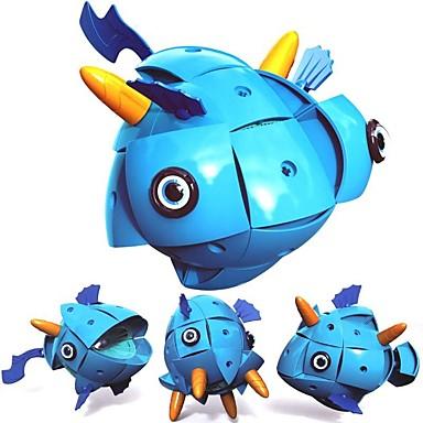 Μαγνητικό μπλοκ Μαγνητικά πλακίδια Τουβλάκια 71 pcs Ψάρια Μεταμορφώσιμος Νεό Σχέδιο Κινούμενα σχέδια Αγορίστικα Κοριτσίστικα Παιχνίδια Δώρο