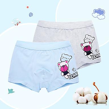 preiswerte Unterwäsche & Socken für Jungen-Kinder Jungen Cartoon Design Baumwolle Unterwäsche & Socken Blau