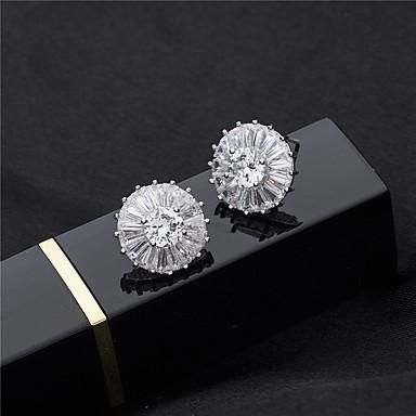 Γυναικεία Κουμπωτά Σκουλαρίκια κυρίες Κρύσταλλο Στρας Σκουλαρίκια Κοσμήματα Ασημί Για Γάμου Πάρτι
