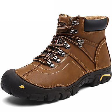 Ανδρικά Παπούτσια άνεσης Νάπα Leather Φθινόπωρο / Χειμώνας Αθλητικά Παπούτσια Μαύρο / Καφέ / Πεζοπορία / Αθλητικό