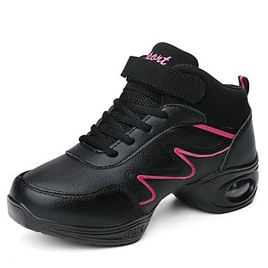 Παπούτσια Χορού Δερματίνη Μαγικό Ραβδί Αθλητικά Κόψιμο Επίπεδο Τακούνι Εξατομικευμένο Παπούτσια Χορού Μαύρο