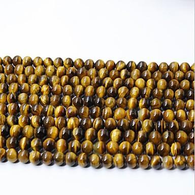 preiswerte Perlen & Schmuck Herstellung-DIY Schmuck 65 Stück Glasperlen Krystall Gelb Kreisförmig Korn 0.6 cm DIY Modische Halsketten Armbänder