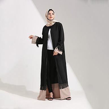 8fb64df90d Arab öltözék Abaya Kaftan ruha Női Divat Fesztivál / ünnepek Polyster ruhák  Fekete Egyszínű 6478714 2019 – $30.59