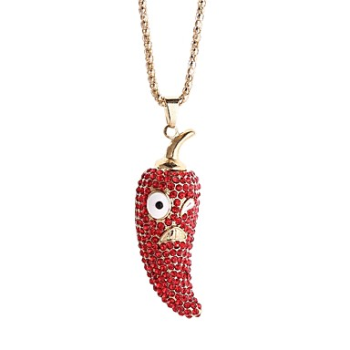 levne Dámské šperky-Dámské Náhrdelníky s přívěšky Řetízky Pepř korejština Slitina Červená Růžová Světle zelená Náhrdelníky Šperky 1 Pro Dar Denní