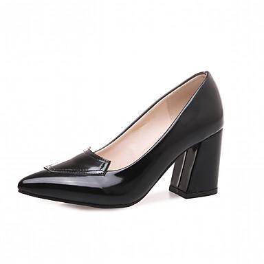 Mujer Zapatos Semicuero Primavera / Otoño Confort / Innovador Tacones Tacón Cuadrado Dedo redondo Pajarita Rojo / Verde / Rosa oCmArN