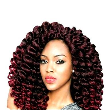 Bouncy Curl Πλεκτά μαλλιά Ombre Συνθετικά μαλλιά Πλεκτά Κοντό Μαλλιά για πλεξούδες 20 ρίζες / πακέτο 1pack