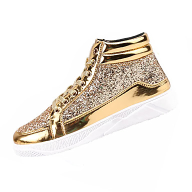 preiswerte Herrenschuhe-Herrn Komfort Schuhe PU Frühling / Herbst Sneakers Schwarz / Gold / Silber / EU40