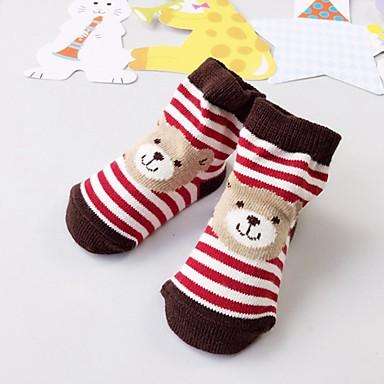 preiswerte Unterwäsche & Socken für Jungen Babys-2pcs Kinder Mädchen Freizeit Weihnachten Alltag Gestreift Druck Weihnachten Baumwolle Unterwäsche & Socken Rote