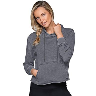 Women's Nylon Running Shirt Long Sleeve Yoga Workout Fitness Gym Workout Exercise Breathability Sportswear Hoodie Sweatshirt Activewear Inelastic