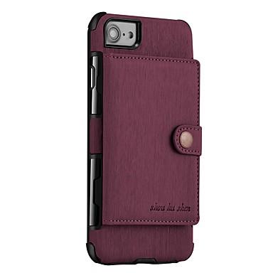 tok Για Apple iPhone X / iPhone 8 Plus / iPhone 8 Πορτοφόλι / Μαγνητική Πίσω Κάλυμμα Μονόχρωμο Σκληρή PU δέρμα