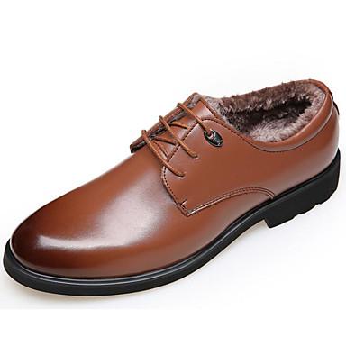 Hombre Zapatos PU Verano Confort Oxfords Negro / Marrón / Color Camello COhVEouK3F