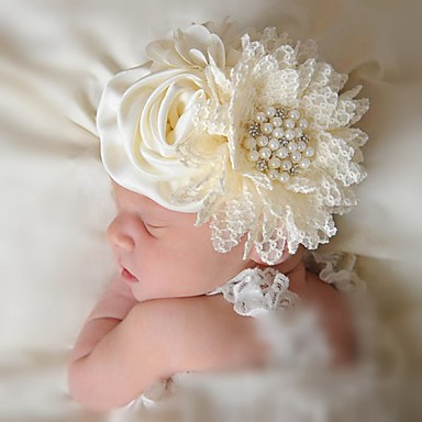 cheap Kids' Accessories-Infant Girls' Others Hair Accessories Beige One-Size / Headbands