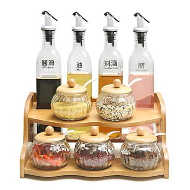 preiswerte Küchen Organisation-1pc Besteck Holz Kreative Küche Gadget