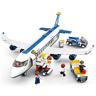 Sluban Τουβλάκια Κατασκευασμένα Παιχνίδια Εκπαιδευτικό παιχνίδι 463 pcs Οχήματα Αεροδρόμιο συμβατό Legoing Φιλικό προς το περιβάλλον Φτιάξτο Μόνος Σου Αεροπλάνο Αγορίστικα Κοριτσίστικα Παιχνίδια Δώρο