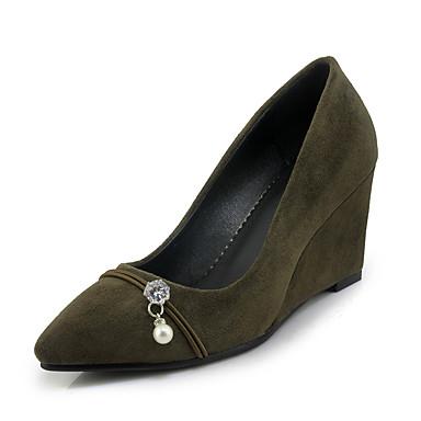 Zapatos grises Tacón de cuña oficinas para mujer yk0TOzx1