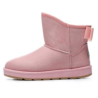 Mujer Zapatos Cuero Nobuck Goma Invierno Botas de Moda Botas de nieve Botas Tacón Plano Botines/Hasta el Tobillo para Casual Negro Café Trouver La Sortie Grand Dernières Collections IyejJm