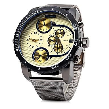 levne Pánské-JUBAOLI Pánské Náramkové hodinky Křemenný Velkoformátové Nerez Černá Cool Velký ciferník Analogové Černá / Modrá