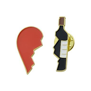 Γυναικεία Καρφίτσες Καρδιά Απλός Μοντέρνα Καρφίτσα Κοσμήματα Κόκκινο Για Καθημερινά Εξόδου