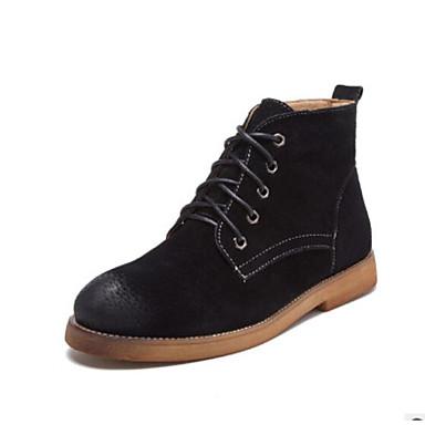 416fc158b19c2e Damen Schuhe PU Herbst Winter Komfort Stiefel Niedriger Heel Geschlossene  Spitze Runde Zehe Mittelhohe Stiefel für Normal Draussen 6480265 2019 –   29.99