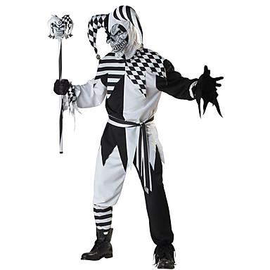 Burlesque / Κλόουν Στολές Ηρώων Ενηλίκων Ανδρικά Halloween Γιορτές / Διακοπές Πολυεστέρας Μαύρο Αποκριάτικα Κοστούμια Καρό / Τετραγωνισμένο