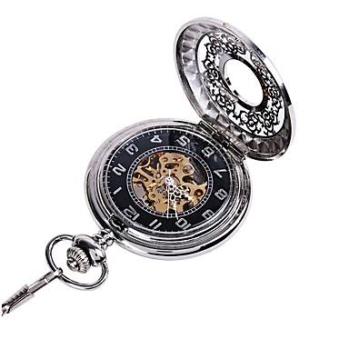 levne Dámské-Pro páry Hodinky s lebkou Kapesní hodinky Křemenný Stříbro S dutým gravírováním Hodinky na běžné nošení Analogové dámy Luxus Na běžné nošení Czaszka Steampunk - Stříbrná
