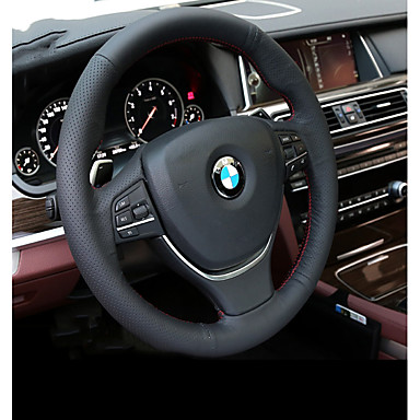 84 99 Steering Wheel Covers Genuine Leather Black For Bmw X3 X5 3 Series All Years