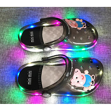 cheap Clear Shoes & Bags-Girls' Comfort PVC Leather Sandals Little Kids(4-7ys) Orange / Blue / Pink Spring / Fall