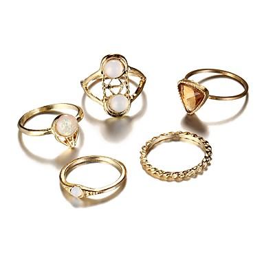 Mulheres Anéis para Falanges Dourado Liga Irregular senhoras Vintage Boêmio Diário Bagels Jóias
