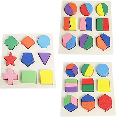 levne 3D puzzle-Dřevěné puzzle Dřevěný model Tvar Sorter Toy Klasický motiv Focus Toy Dřevěný Dětské Dospělé Chlapecké Dívčí Hračky Dárek