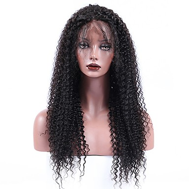 Cappelli veri Lace frontale Parrucca Malese Kinky Curly ...